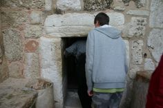 The entrance to the Church of The Nativity, Bethleham has been stoned into a small entrance. This prevents conquering nations from riding their livestock into the church and using it as a stable! That happened...almost seems fitting doesn't it? Now we bow in reverence just to enter!