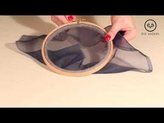 """1 yрок - Eve Anders Couture - """"Запяливание шелковой органзы в круглые пяльцы"""" - YouTube"""