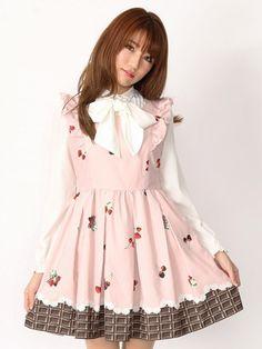 Ank Rouge(アンクルージュ) |BerryChocolateウエストリボンワンピース(ピンク)