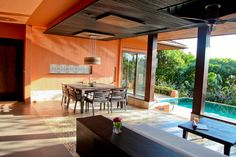 Outdoor Living in Two Bedroom Family Suite Garden View ,Sri Panwa,Luxury Pool Villa Hotel. Phuket,Thailand