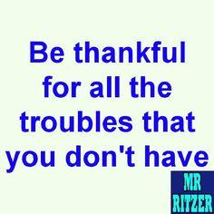 #MrRitzer #Thankful
