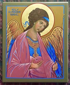 HOLY GUARDIAN ANGEL, by Odarka,  acrylic, gold leaf, birch board,  July, 2019 (based on the prototype - Archangel Michael by Andrei Rublev, 1414) Andrei Rublev, Byzantine Icons, Archangel Michael, Princess Zelda, Disney Princess, Gold Leaf, Birch, Disney Characters, Fictional Characters