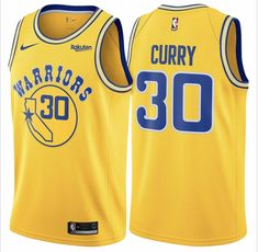 aa96206f1 Nike Warriors  30 Stephen Curry Gold Throwback NBA Swingman Hardwood  Classics Jersey available from size S to 2XL  21