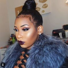 Glam and ready @aaliyahjay  EYES: #SelfMadePalette  LIPS: Potion lip gloss  #anastasiabeverlyhills #abhgloss