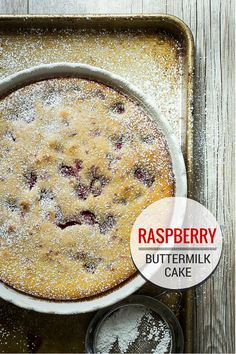 Raspberry Buttermilk Cake - Foodness Gracious