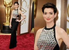 Anne Hathaway In Gucci Premiere - 2014 Oscars. Re-tweet and favorite it here: https://twitter.com/MyFashBlog/status/440325199062245378/photo/1
