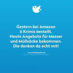 Gestern bei Amazon 6 Krimis bestellt.