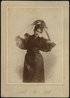 Madge Macbeth in an oriental costume, c. 1895, Canada. #Victorian #portraits #Canada #1800s #women