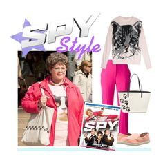 """Get the Spy Look: Melissa McCarthy as Susan Cooper"" by polyvore-editorial ❤ liked on Polyvore featuring Alexander McQueen, Crocs, Paul & Joe Sister, Kate Spade and SpyMovie"