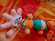 gąsienica ze skarpety/caterpillar