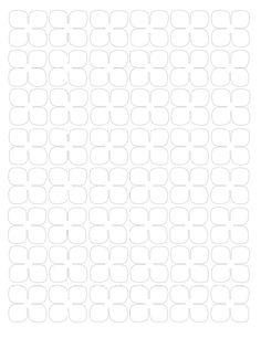 Гортензия из бумаги-шаблон 4