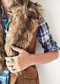 Gorgeous faux fur vest #AnthroFave http://rstyle.me/n/q3j32n2bn