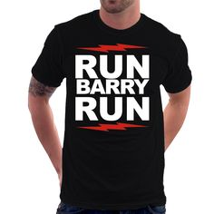 Camiseta Camisa The Flash - Run Barry Run