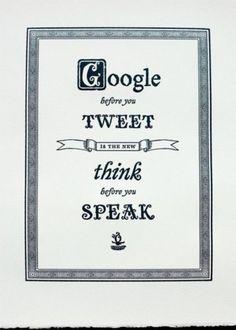 Google/Tweet Saying #sayings