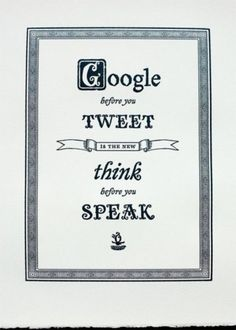 Google/Tweet Saying #sayings