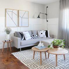 Sofás modernos: 80 modelos cheios de estilo e conforto para a sala Minimalist Decor, Home Staging, Decoration, Cool Furniture, Decorating Your Home, Sofas, Living Room Decor, Sweet Home, House Design