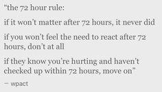 72 hour rule