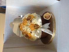 Coffee walnut and chocolate giant cupcake