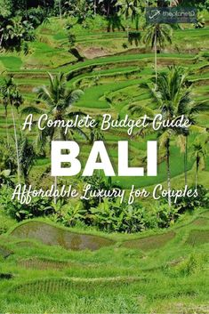 The ultimate couple's travel guide for exploring Bali on a budget. Head to the beach for free or try out the surf by renting a board for a low price. Stay at a luxurious 5-star resort at a fraction of the price compared to other destinations. Enjoy eating out as the food prices are unbeatable. Luxury on a budget in Bali. | Blog by the Planet D #Bali
