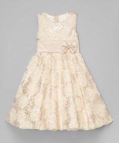 Another great find on #zulily! Cream Floral Embroidered A-Line Dress - Infant, Toddler & Girls #zulilyfinds