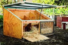 Icebox Coop - Instructions for a simple, DIY chicken coop that will fit in almost ANY backyard and house enough chickens for a small family.