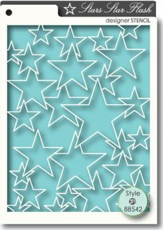 Stars, Star Flash - $5.49  More stars!!!  Great for a birthday or gradation card! 4.4 x 5.6 inches. Available at http://www.classycardsnsuch.com/Stars_Star_Flash_stencil_by_Memory_Box_p/mbc-88542.htm