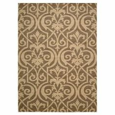 Woven from lush wool and art silk, this chic rug features a damask-inspired trellis motif.  Product: RugConstruction Material: Wool and art silkColor: MoccaFeatures: Woven Note: Please be aware that actual colors may vary from those shown on your screen. Accent rugs may also not show the entire pattern that the corresponding area rugs have.Cleaning and Care: Professional dry cleaning recommended APL Rug