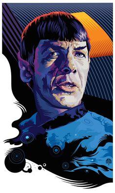 Star Trek Spock Pop Art Portrait by Garth Glazier Star Trek Kostüm, Star Trek Spock, Star Trek Original Series, Star Trek Series, Akira, Star Trek Posters, Star Trek Images, Star Trek Characters, Pop Art Portraits
