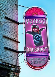 good things come in pink boxes. | Voo Doo Doughnuts, Denver Colorado.