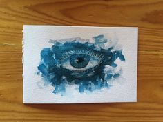 4x6 Watercolor Eye Illustration by emilymeagansharp on Etsy