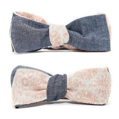 Linen Bow Tie Chambray now featured on Fab.