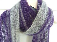 Lacy scarf knit with Aloft yarn from Knit Picks