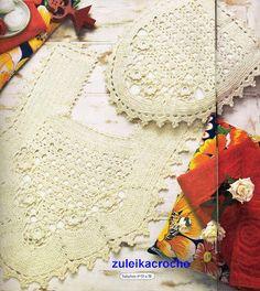 Crochet beige bathroom set ❤️LCB-MRS❤️ with diagrams. --- Crochê da Reh: Jogo de Banheiro Crú Com Flores