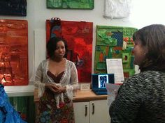 Artist Tiffany Gholar at her Second Fridays open house My Art Studio, My Arts, Gallery, Open House, Artist, Tiffany, October, Pictures, Painting