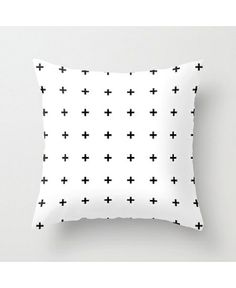 Black Plus on White Cushion Covers Pillowcase Accent Pillows for Sofa for bed White Throws, White Throw Pillows, Throw Pillow Covers, Bed Pillows, Pillow Cases, Fluffy Pillows, Layout Design, Awesome Bedrooms, New Room