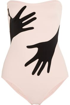 Moschino | Strapless hand-appliquéd swimsuit