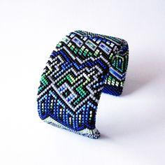 Cool Blue Beaded Bracelet