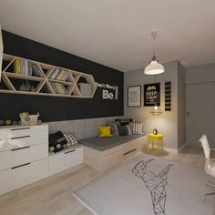 Find home projects from professionals for ideas & inspiration. Pokój dla juniora by living box Design Room, House Design, Interior Design, Kids Bedroom Designs, Boys Bedroom Decor, Teenage Room, Beautiful Bedrooms, Boy Room, Creative Kids Rooms