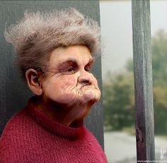 Grumpy Granny by Dirk Wachsmuth, via Behance