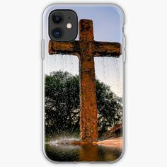'Water from the Cross' iPhone Case by LeonKramer Iphone Case Covers, Cover Design, Iphone 11, Printed, Awesome, Water, Products, Art, Gripe Water