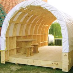 Shelter for the masses with an outdoor living room set....Perfect