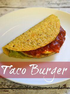 Easy 10 Minute Meal - Taco Burger #Recipe #Vegetarian