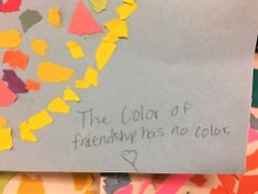 """The color of friendship has no color."" -A Child's Perspective #equality #artsaveslives #speakyourmind"