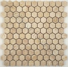 Copper Metallic Hexagon Tiles On The Floor Pull Out