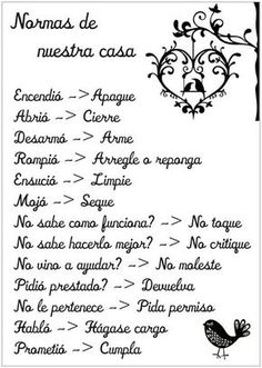 Spanish House Rules Vinyl Wall Decals , Wall Sticker Home Decor Family Quote In Spanish House Decoration Yesterday's price: U… Positive Phrases, Home Deco, Sweet Home, Inspirational Quotes, Motivational Phrases, Wisdom, Lettering, Thoughts, Writing