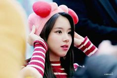 Nayeon, South Korean Girls, Korean Girl Groups, Chaeyoung Twice, Dahyun, One In A Million, Arm Warmers, Sons, Winter Hats