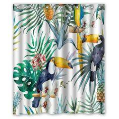 Pas cher Pic ananas jungle douche personnalisée rideau décoration salle de bain design de mode différentes tailles livraison gratuite, Acheter  Rideaux de douche de qualité directement des fournisseurs de Chine:    S'il vous plaît choisir la taille que vous voulez. (  Permettre Manuel erreur de mesure      )       &nbsp