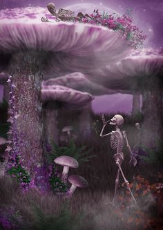 "dverkys: ""Hide and Seek - By Dan Verkys "" Skeleton Love, Skeleton Art, Art Of Dan, Gothic Fantasy Art, Dark And Twisty, Beautiful Dark Art, Skull Pictures, Skull Artwork, Sugar Skull Art"