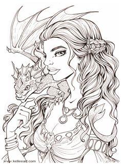 Daenerys Inks by KelleeArt.deviantart.com on @DeviantArt