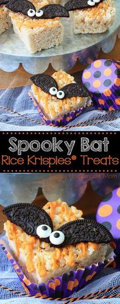 Spooky Bat Rice Krispies Treats - perfect for Halloween!! with @RiceKrispies #RiceKrispies #ad